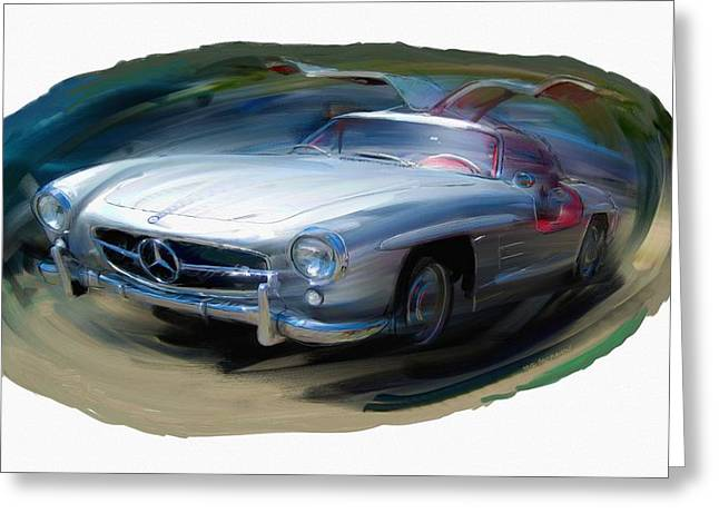Mercedes Gullwing Greeting Card