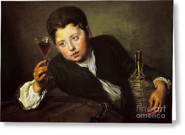 Mercier: Wine Taster Greeting Card by Granger