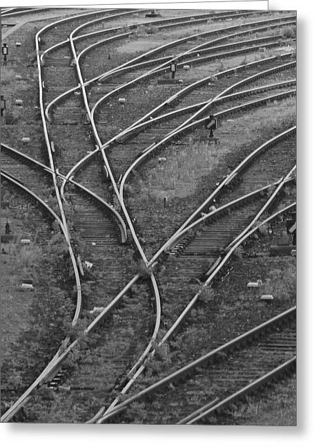 Merging Tracks Greeting Card by Jeff Trotter