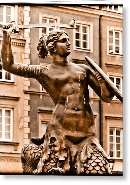 Warsaw, Poland - Mermaid Greeting Card