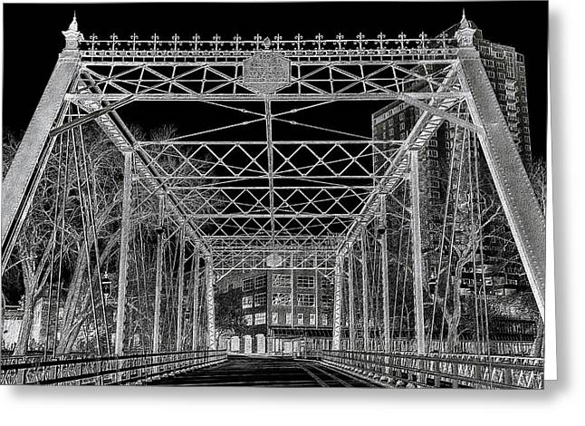 Merriam Street Bridge Greeting Card by Bill Tiepelman