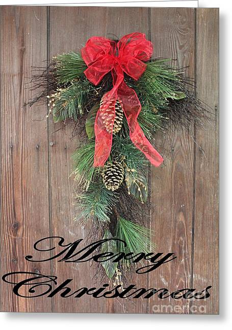 Greeting Card featuring the photograph Merry Christmas - Christmas Card by Laurinda Bowling
