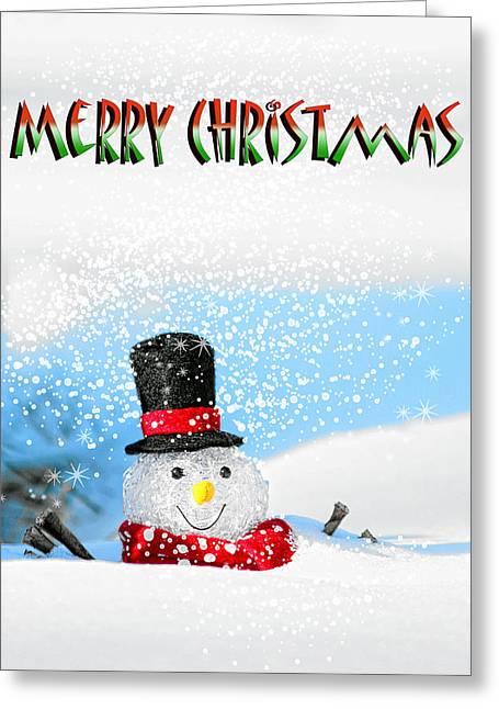 Merry Christmas Greeting Card by Billie-Jo Miller