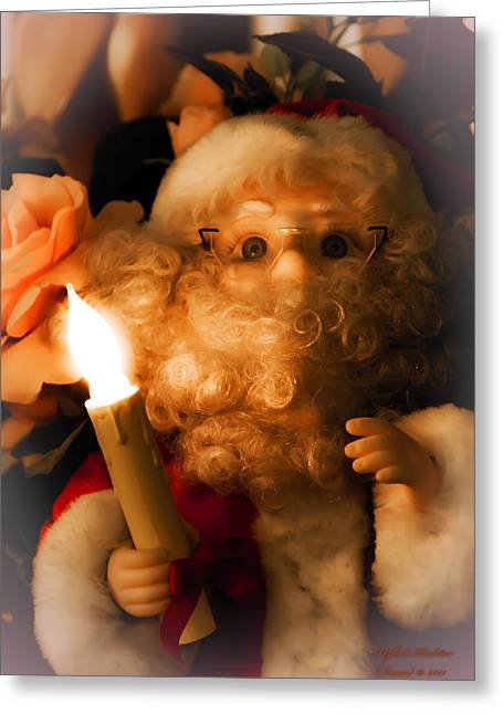 Merry Christmas Greeting Card by Itzhak Richter