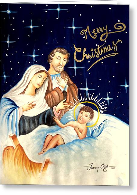 Merry Christmas Greeting Card by Tanmay Singh