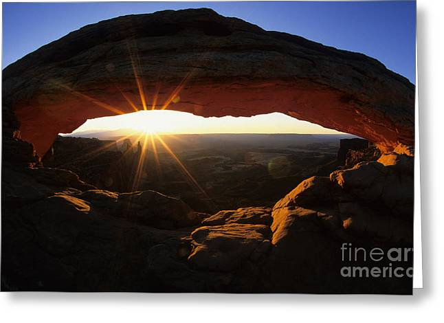 Mesa Arch Sunrise Greeting Card by Bob Christopher