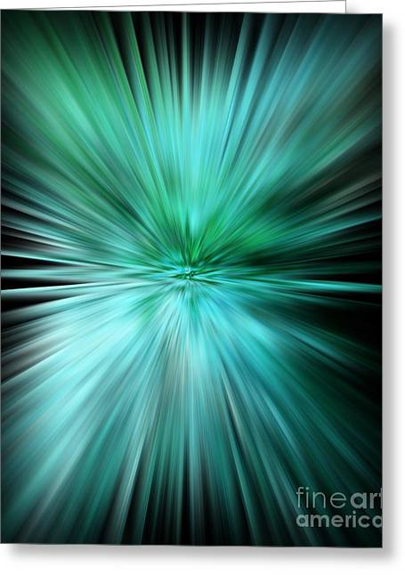 Mesmerizing Aqua Abstract Greeting Card
