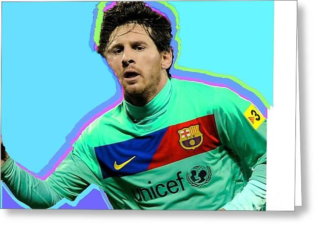 Messi Nixo Greeting Card by Nicholas Nixo