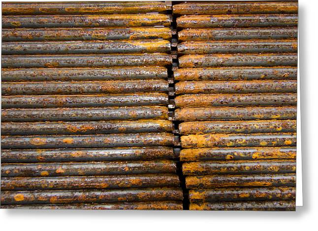 Rusty Rebar Roundup Greeting Card by Jean Noren