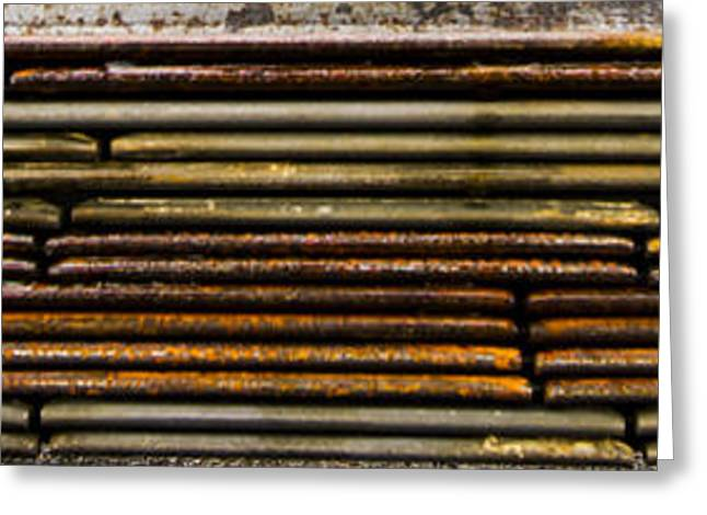 Metal Stripe  Greeting Card by Jean Noren