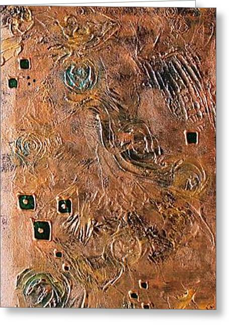 Metallic Abstract Greeting Card by Srijanani Sundararajan