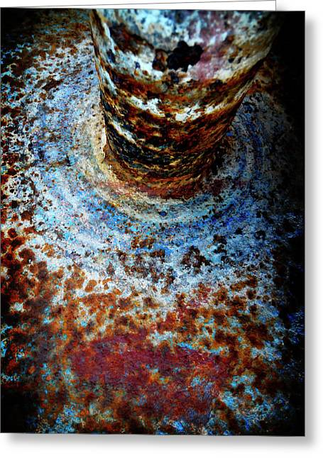 Greeting Card featuring the photograph Metallic Fluid by Pedro Cardona