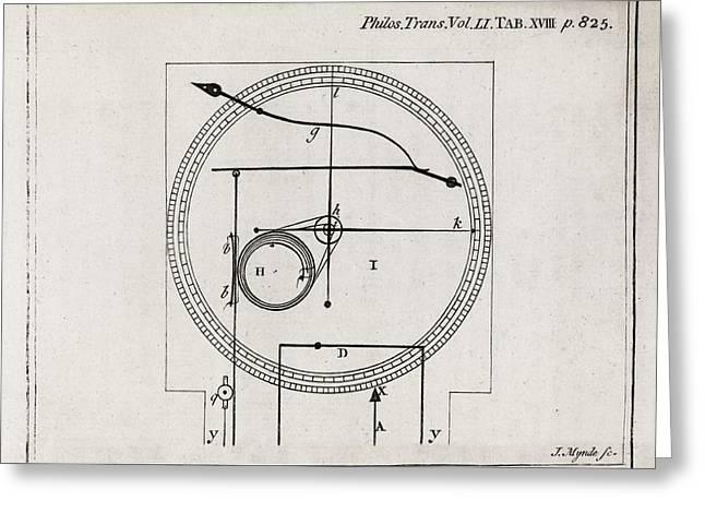 Metalline Thermometer, 18th Century Greeting Card