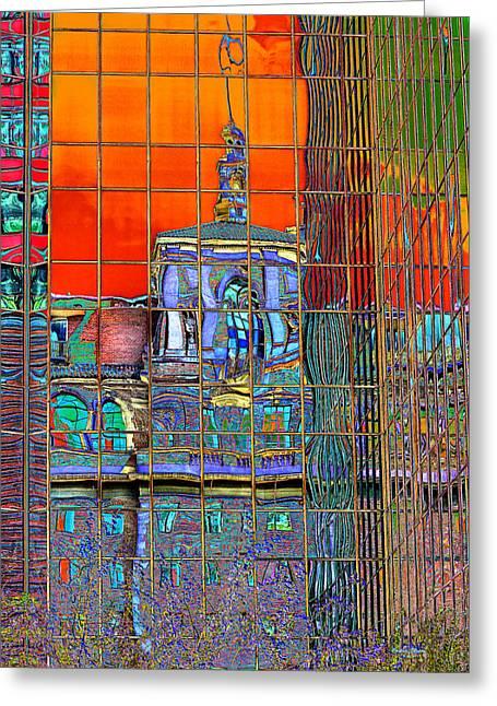 Metamorphosis In Pop Art Colors Greeting Card by Phyllis Denton
