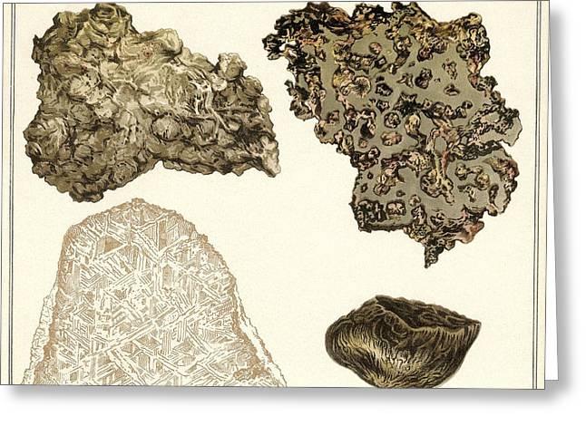 Meteorites, Historical Artwork Greeting Card by Detlev Van Ravenswaay