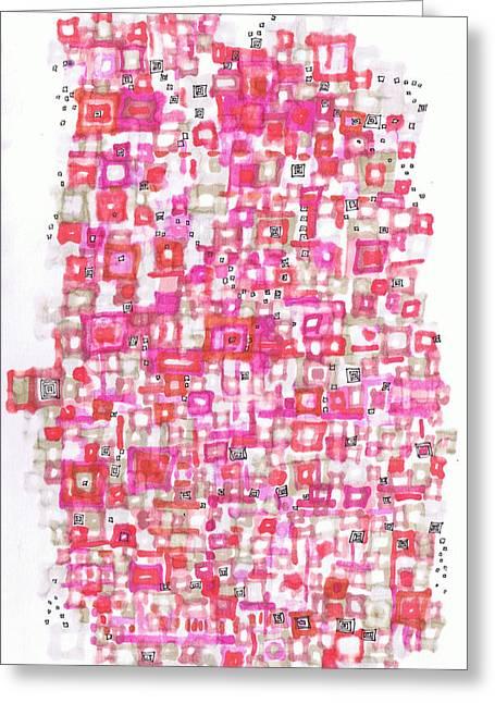 Metropolitan Projection Greeting Card by Regina Valluzzi