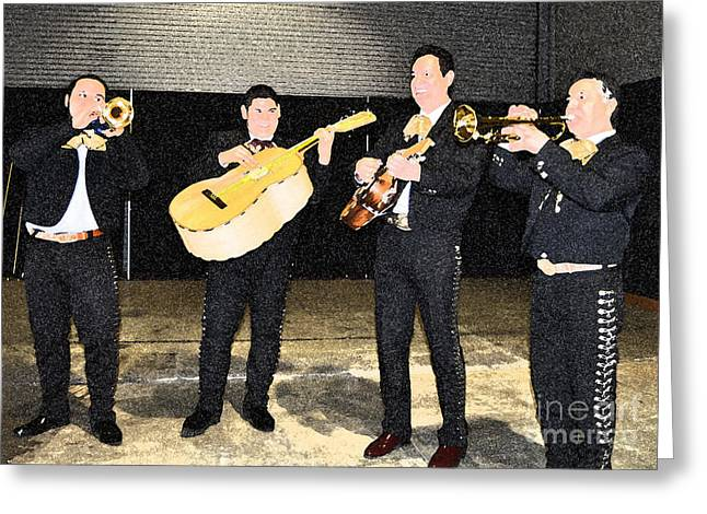 Mex Band Greeting Card by Brent Easley