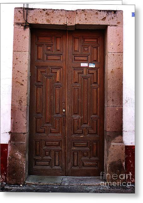 Mexican Door 45 Greeting Card by Xueling Zou