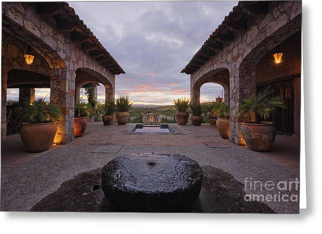 Mexican Ranch House Greeting Card by Jeremy Woodhouse