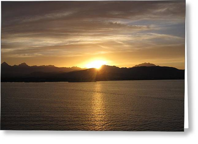 Greeting Card featuring the photograph Mexican Sunset by Marilyn Wilson