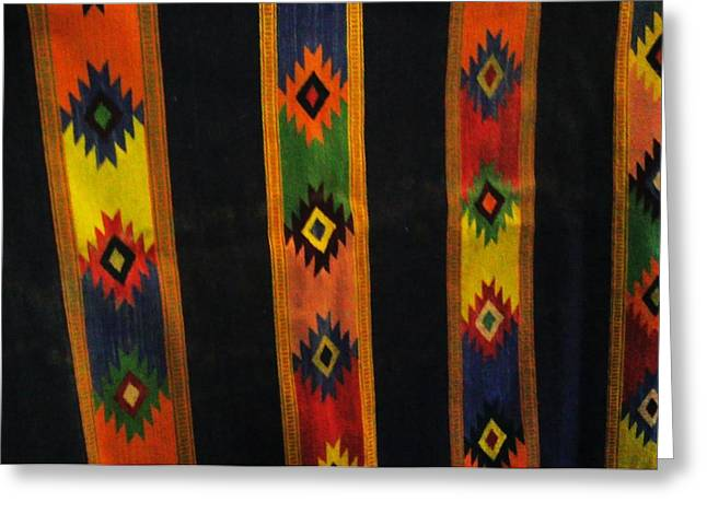 Mexican Throw Rug Colorful Greeting Card by Unique Consignment