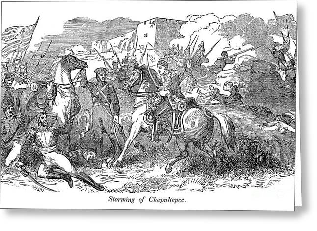 Mexican War: Chapultepec Greeting Card by Granger