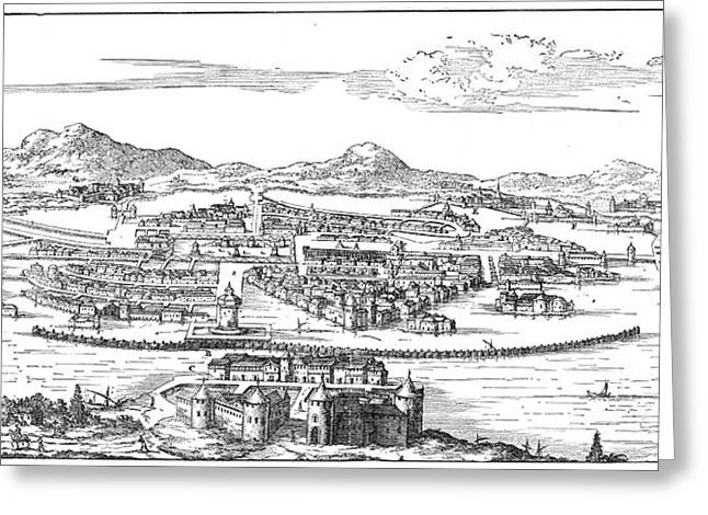 Mexico City, 1671 Greeting Card