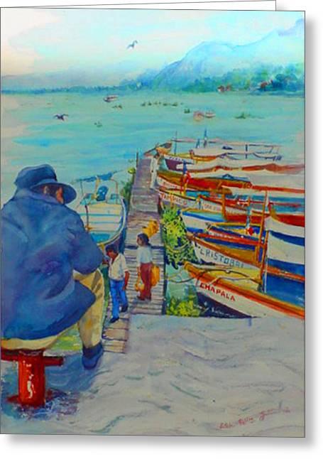 Mexico Lake Chapala Greeting Card by Estela Robles