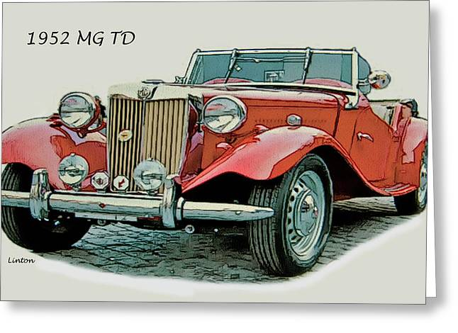 Mg Td Greeting Card by Larry Linton