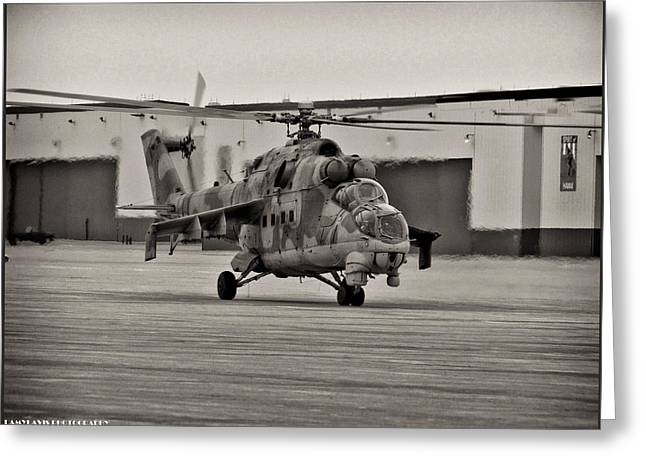 Mi-24 Hind D  Greeting Card
