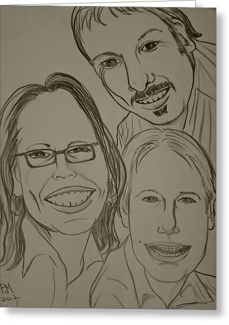Mi Familia Greeting Card by Pete Maier