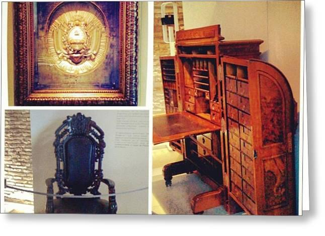 Mi Visita Al Museo Del Bicentenario!! Greeting Card by Pablo Grippo