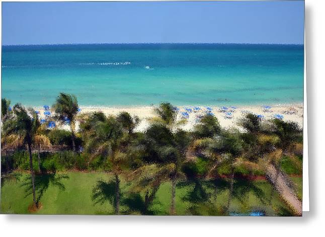 Miami Beach Greeting Card by Pravine Chester