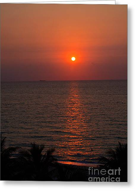 Greeting Card featuring the photograph Miami Sunrise by Pravine Chester
