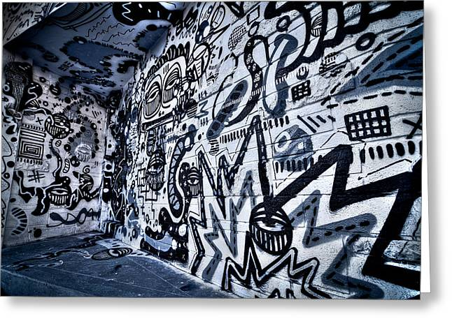 Miami Wynwood Graffiti 2 Greeting Card by Andres Leon