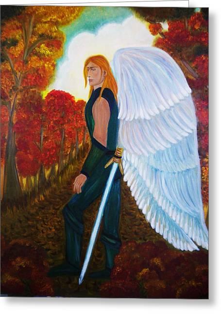 Michael - Michael Archangel Series By Yesi Casanova Greeting Card
