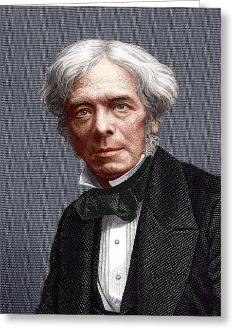 Michael Faraday, English Chemist Greeting Card by Sheila Terry