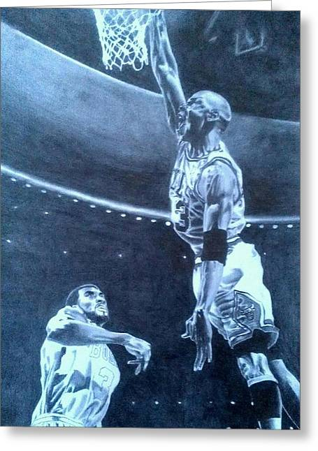 Michael Jordan - The Art Of His Airness Greeting Card by Damardre Williams