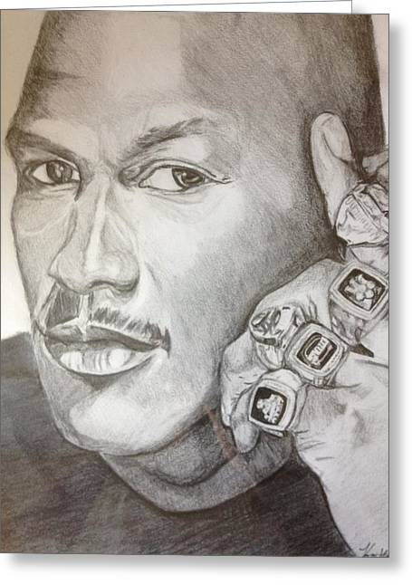 Michael Jordan Six Rings Legacy Greeting Card