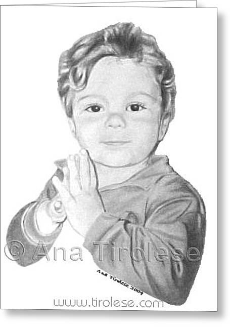 Greeting Card featuring the drawing Michael Smyth by Ana Tirolese