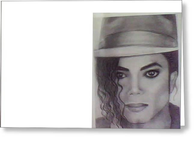 Michal Jackson Greeting Card by Spruthi ranjan Pradhan