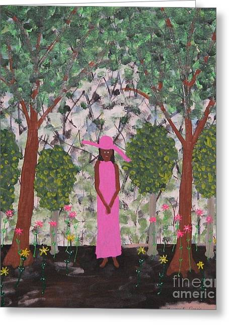 Michelle Obama First Lady Greeting Card by Gregory Davis
