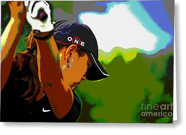 Michelle Wie Greeting Card by Pascale Vandewalle