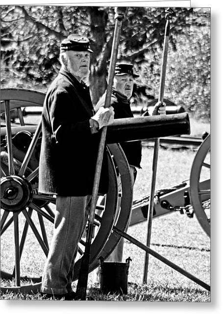 Greeting Card featuring the photograph Michigan Battery D by Randall  Cogle