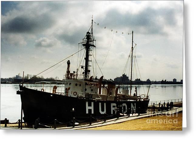 Michigan Lake Huron - The Huron Lightship  Greeting Card by Kathy Fornal