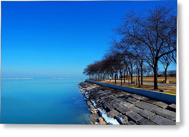 Michigan Lakeshore In Chicago Greeting Card by Paul Ge