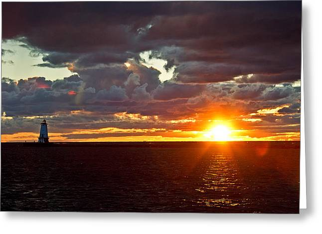 Greeting Card featuring the photograph Michigan Sunset by Randall  Cogle