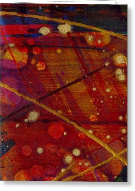 Mickey's Triptych - Cosmos II Greeting Card by Angela L Walker