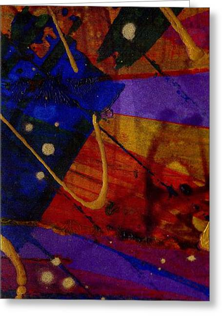 Mickey's Triptych - Cosmos IIi Greeting Card by Angela L Walker
