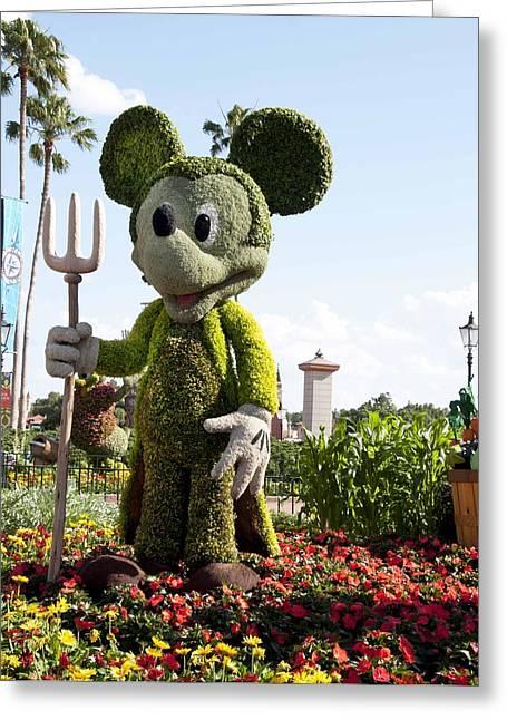 Mickeytopiary3606 12 Greeting Card by Charles  Ridgway